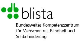 """blista-Logo """"Bundesweites Kompetenzzentrum für Menschen mit Blindheit und Sehbehinderung"""""""