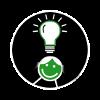 Bildungsangebote - Icon mit Lampen-Symbol