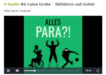 Drei schwarze Silhuetten auf grünem Grund symbolisieren den Podcast zum ParaSport