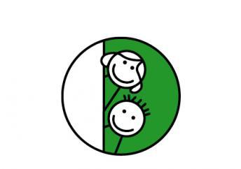 2 Smileys übereinander symbolisieren die Schnuppertage der blista