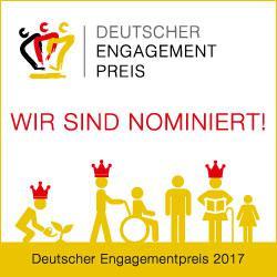 """Websticker """"Nominiert für den Deutschen Engagementspreis"""""""