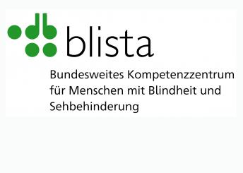 """blista-Logo mit Claim: """"Bundesweites Zentrum für Menschen mit Blindheit und Sehbehinderung"""""""