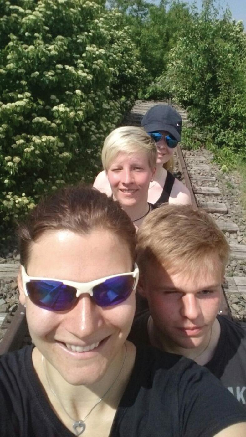 Die Teilnehmer des Inklusionslaufes Katha, Suse, Anne und Thomas