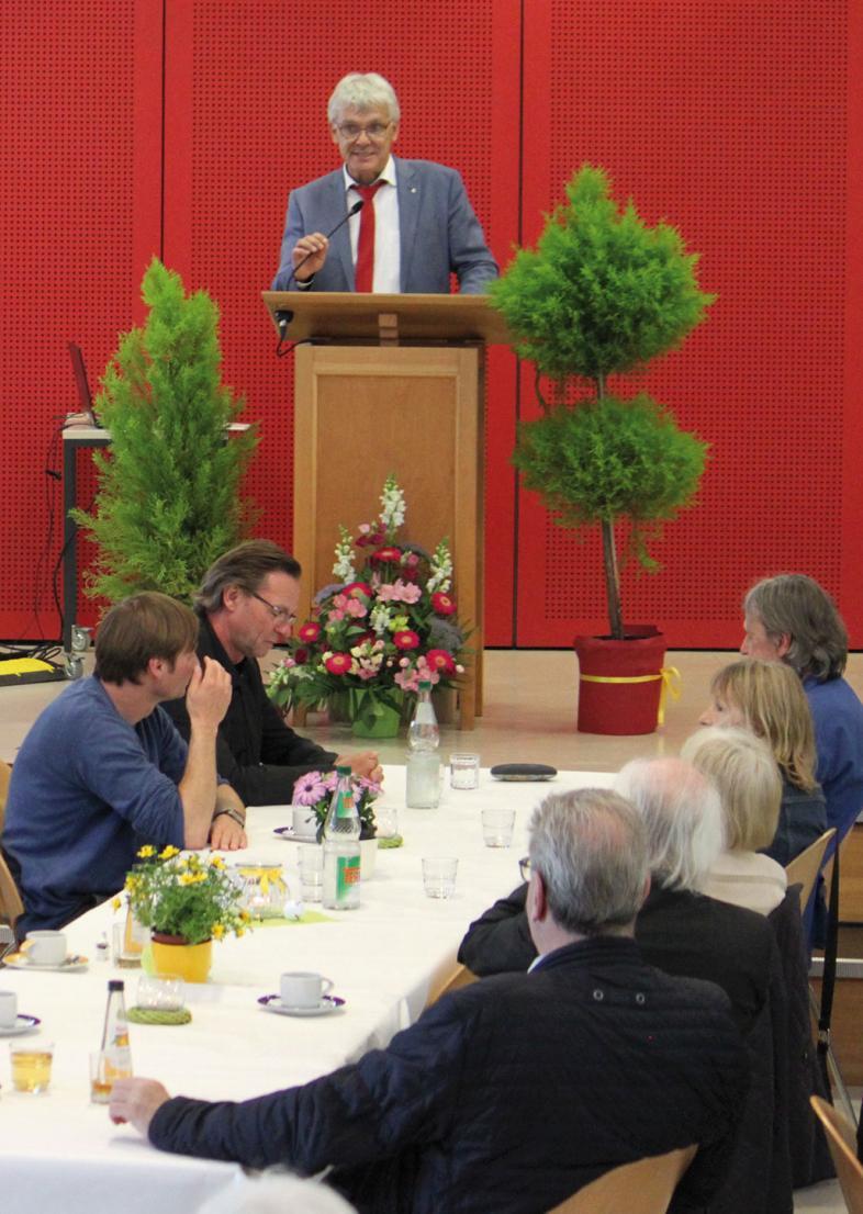 Direktor Duncker am Rednerpult