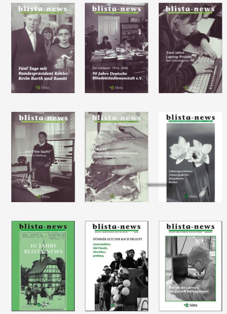 Das Bild zeigt eine Auswahl an Titeln der vergangenen Jahre