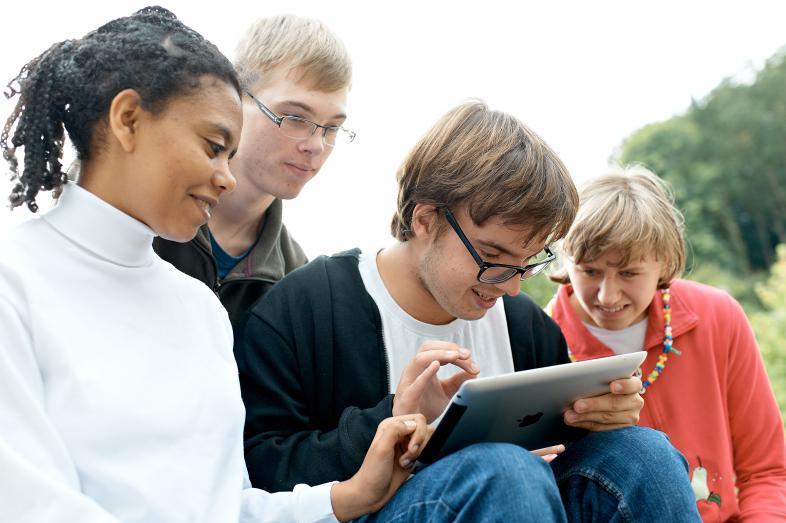 4 Blistaner lernen via iPad