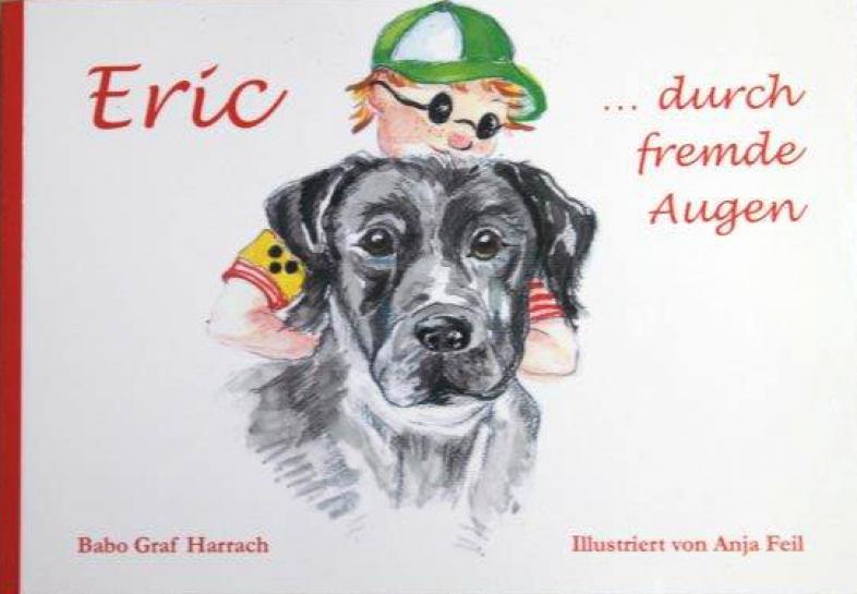 Im Vordergrund zeigt das Cover einen Hundekopf, darüber einen blonden Jungen mit grüner Schirmmütze und abgedunkelter Brille