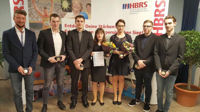 Sebastian Müller, Michael Feistle, Tobias Vestweber, Sabine Kuxdorf, Annkathrin Denker, Jan Wolf und Philipp Golban