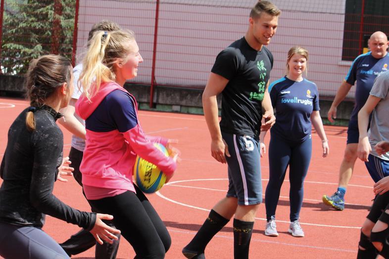 Trainingseinheit auf dem Sportplatz