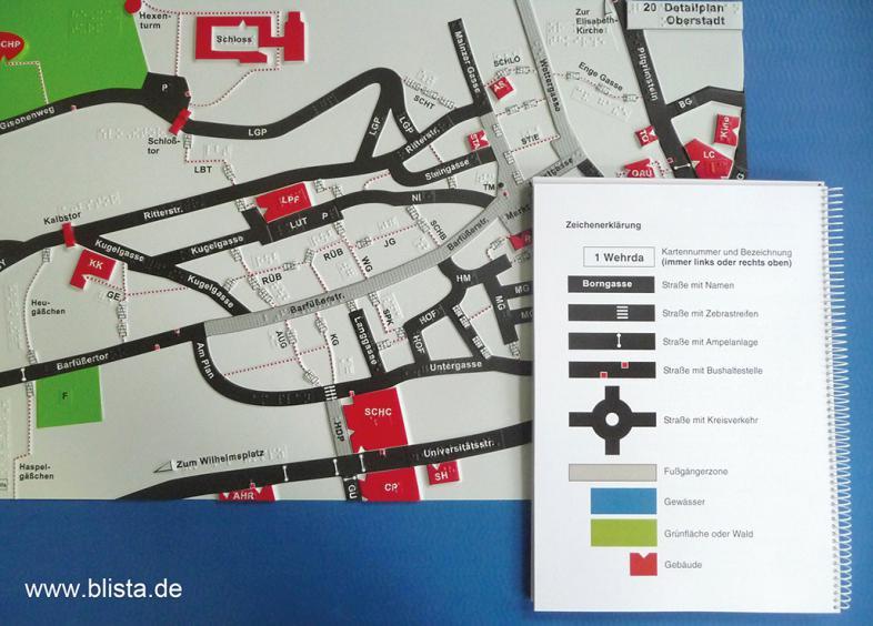 Stadtplan Marburg mit Legendenheft