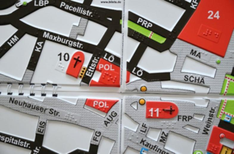 Detail Faltstadtplan München