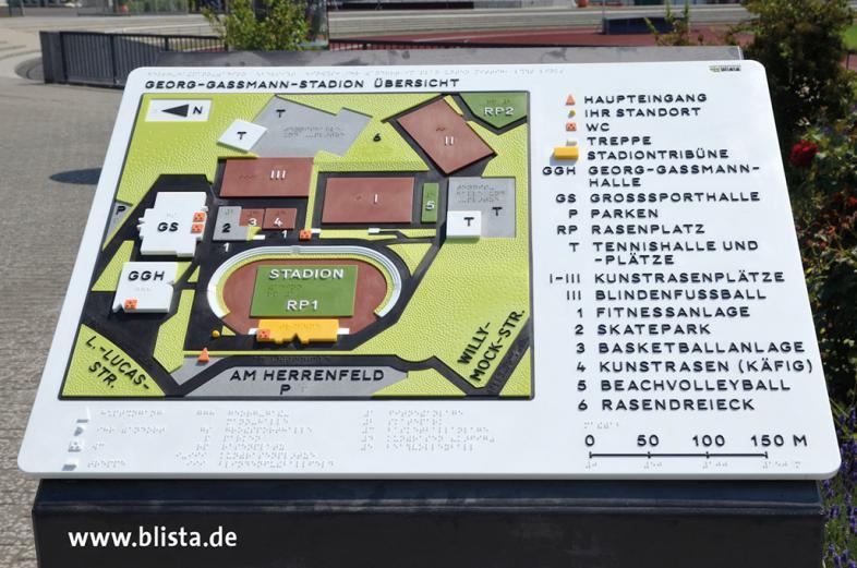 Modell Georg-Gassmann-Stadion Marburg