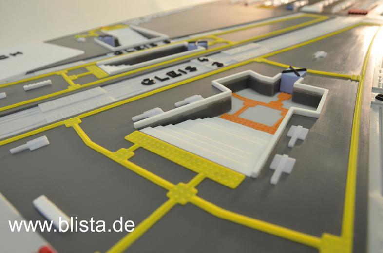 Detail Leitsystem Modell Bahnhof Bad Kreuznach
