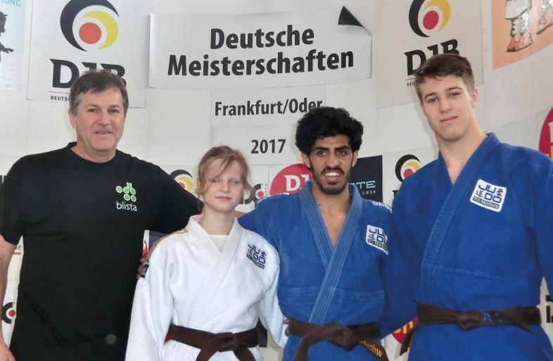 Von links: Markus Zaumbrecher, Tabea Müller, Shugaa Nashwan und Daniel Goral