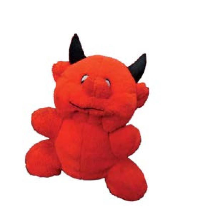 Der kleine rote Plüschteufel ganz allein