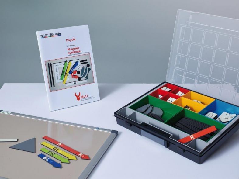 Multimediales Lernpaket Physik mit Magnetsymbolen