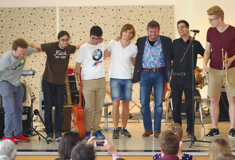 blista-Band auf der Bühne
