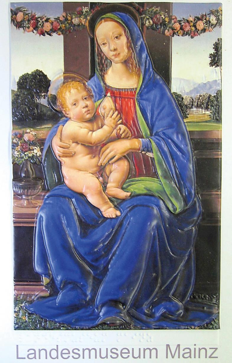 """Das Titelbild aus der Broschüre """"Blaue Madonna"""" zeigt das Gesamtwerk"""
