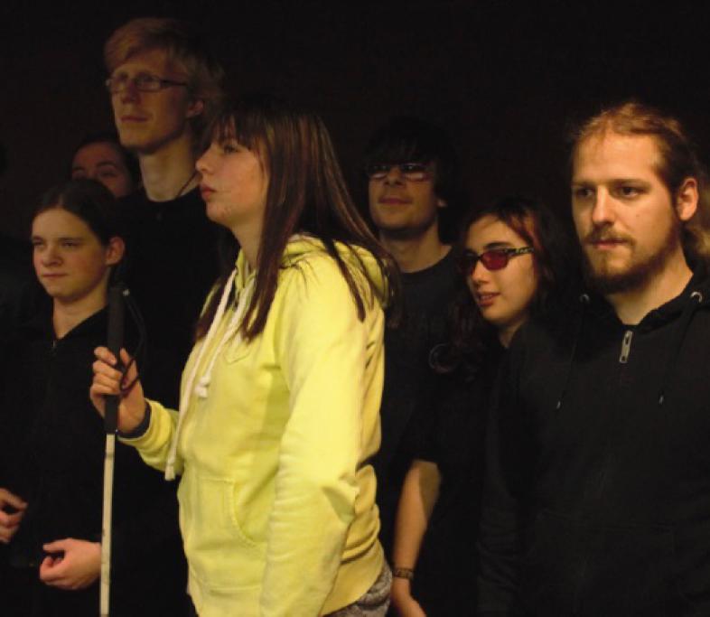 Eine Gruppe aus dem Theater