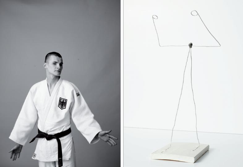 Körperwahrnehmung im Raum: Sowohl beim Judo wie auch beim Besuch einer Giacometti-Ausstellung in Frankfurt.