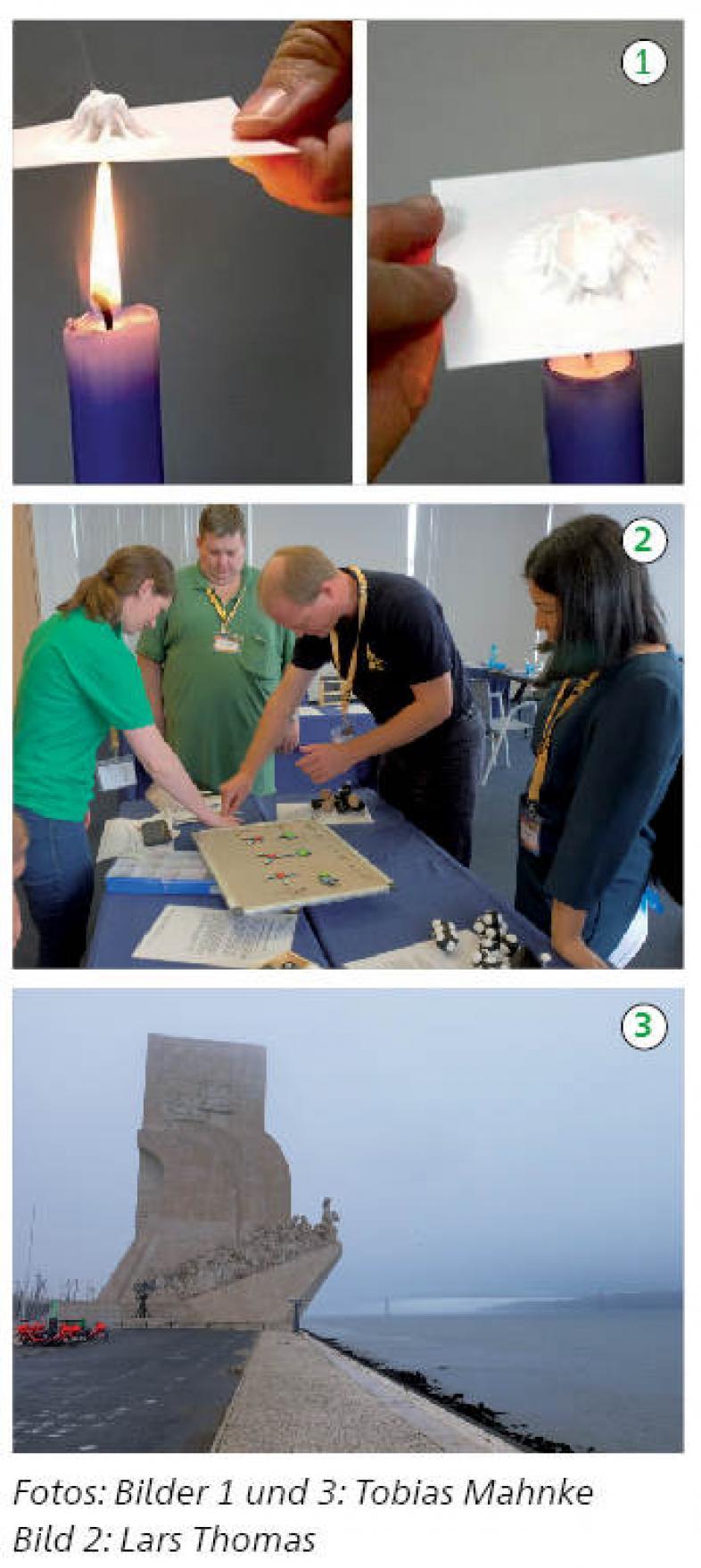 Drei Fotos zum Artikel, Bildbeschreibungen im Text.