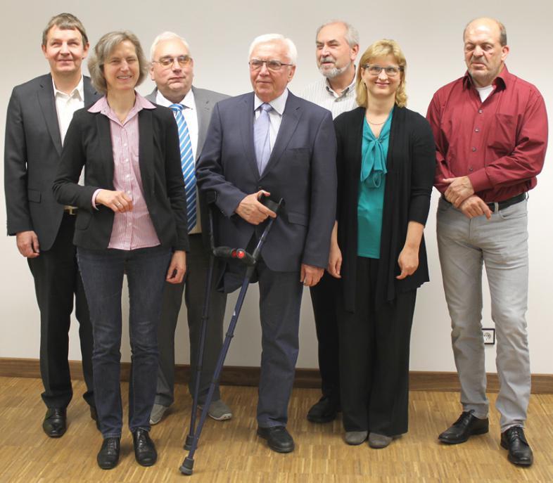 Der Verwaltungsrat: von links Andreas Bethke, Ursula Weber, HansWerner Lange. Bernd Höhmann, Manfred Scharbach, Christiane Möller, Dr. Michael Richter