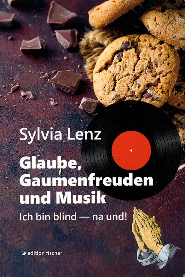 Auf dem Cover sind Kekse, Schokolade, eine Vinyl-Schallblatte und betende Hände abgebildet