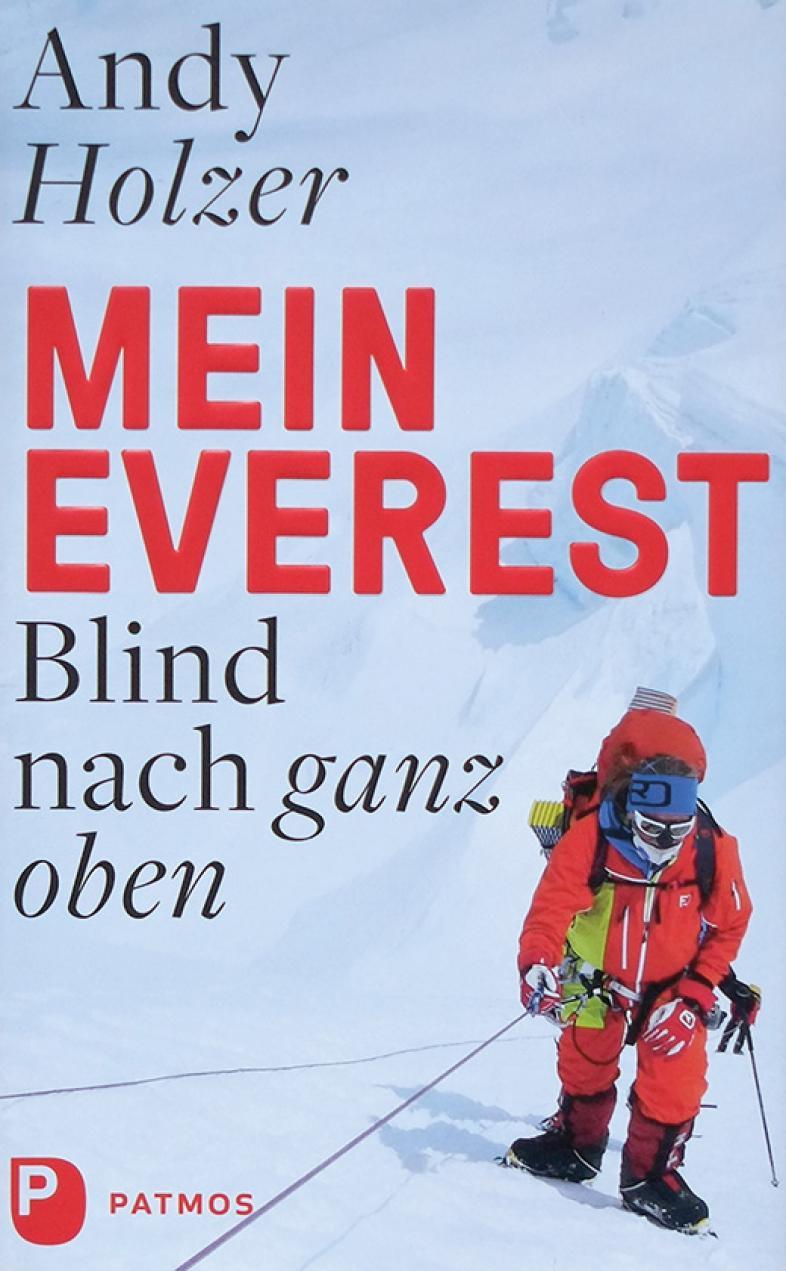 Das Cover zeigt einen komplett vermummten Bergsteiger in einer Schneelandschaft