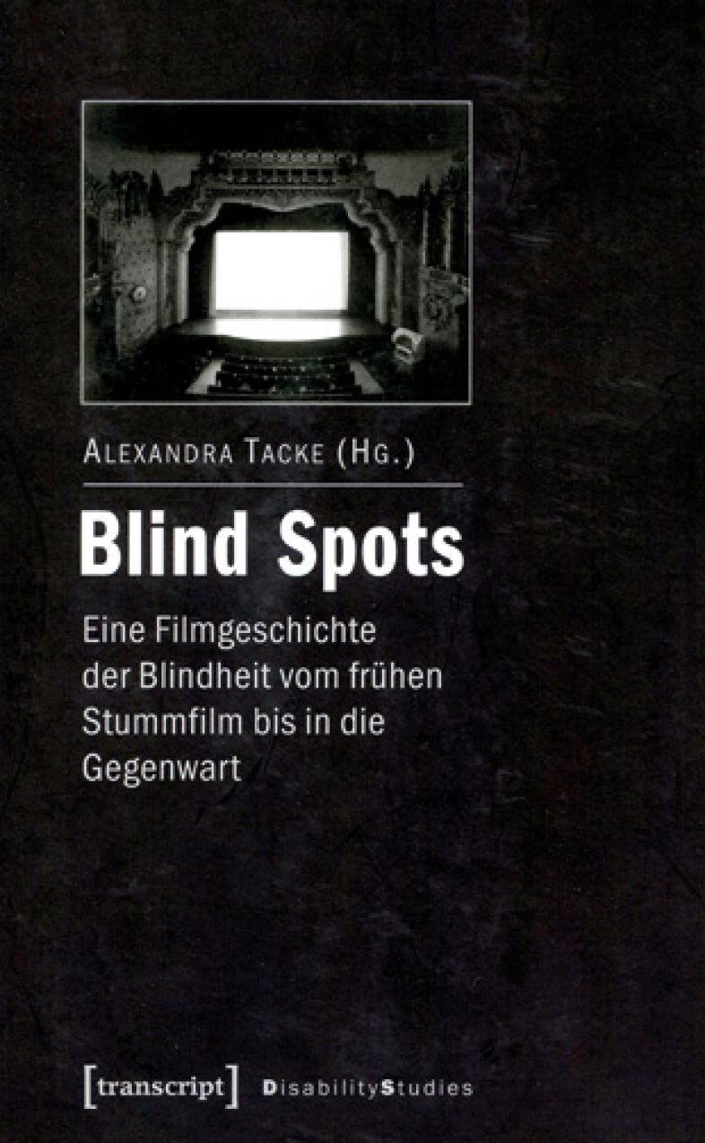 Das Cover ist dunkel, fast schwarz, die Schrift weiß, ein Foto zeigt den Blick auf eine Theaterbühne