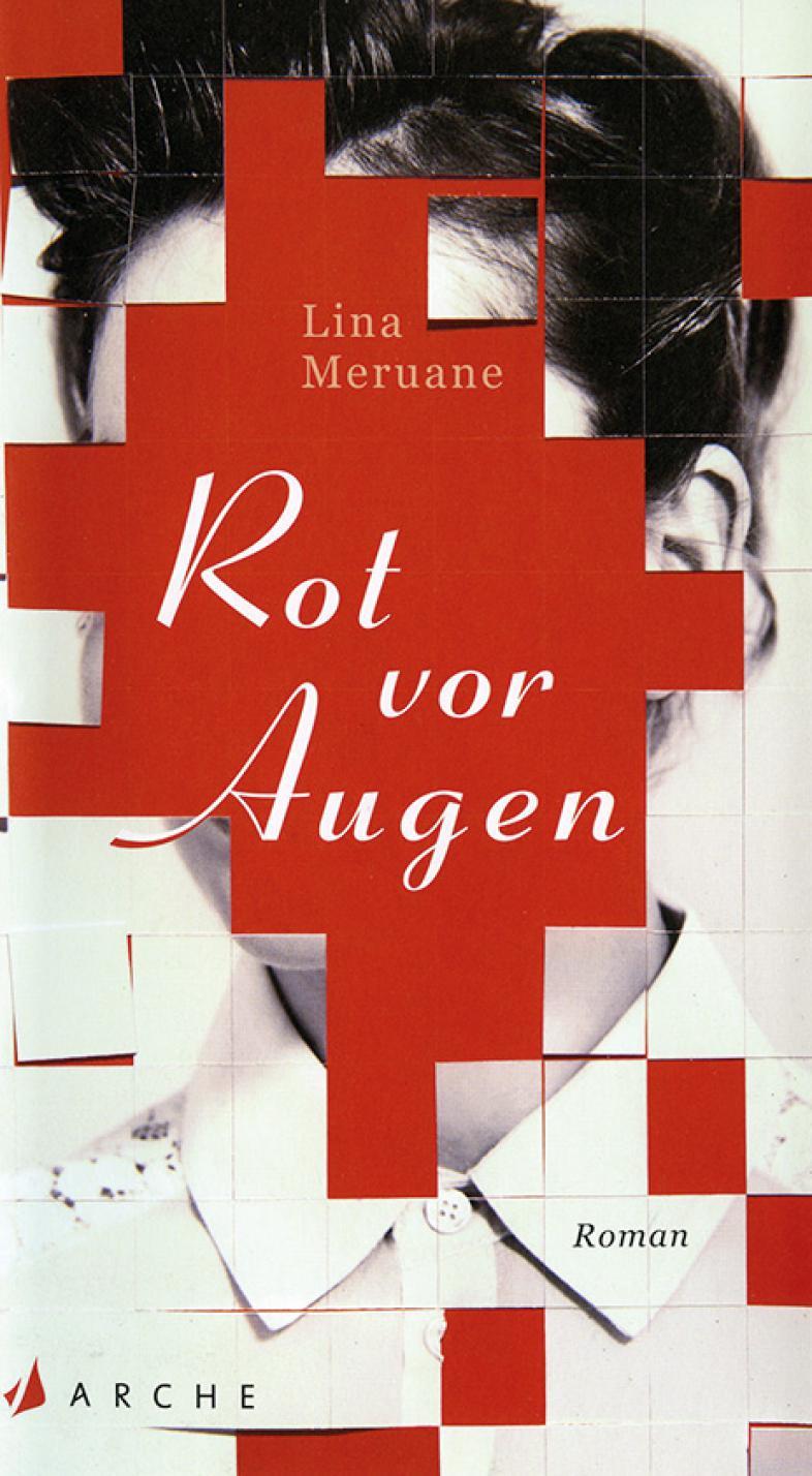 Das Cover zeigt das Gesicht einer jungen Frau, das eine rote Fläche verdeckt