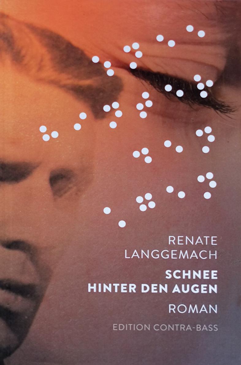 Das Cover zeigt einen blinden Mann und den Buchtitel in Brailleschrift