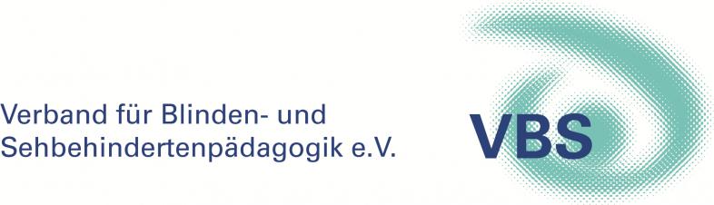 Das Logo des VBS zeigt die drei Buchstauben in Dunkelblau vor einem stilisierten Auge in Türkis
