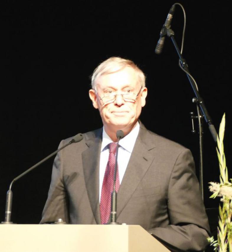 Bundespräsident a.D. Prof. Dr. Horst Köhler während seiner Rede