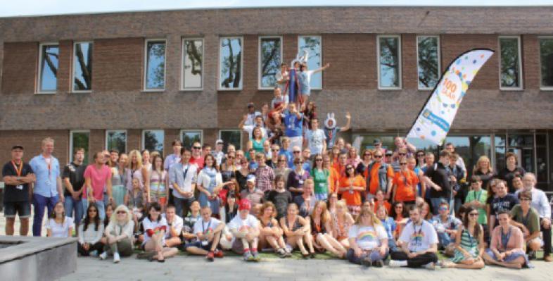 Die Gruppe der Teilnehmerinnen und Teilnehmer des Camps