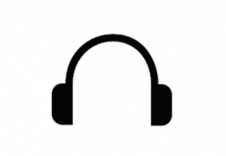 Symbolische Darstellung eines Kopfhörers