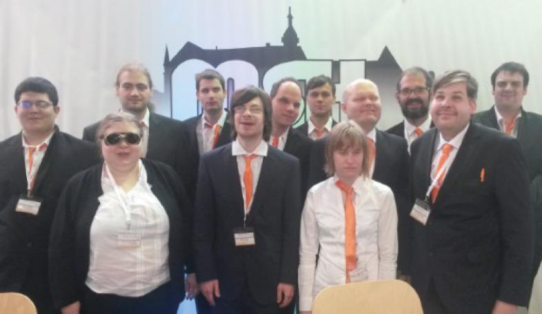 Gruppenfoto der Auszubildenden des Marburger Systemhauses