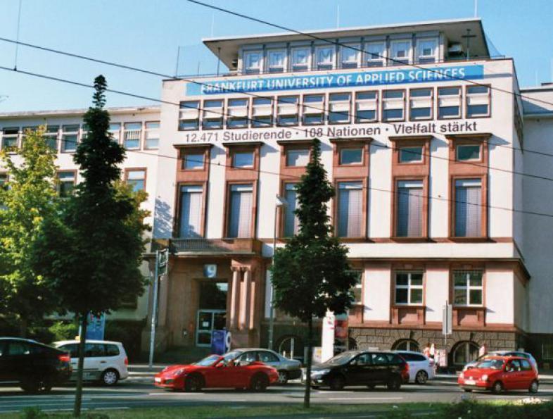 Ein Gebäude der Fachhochschule Frankfurt
