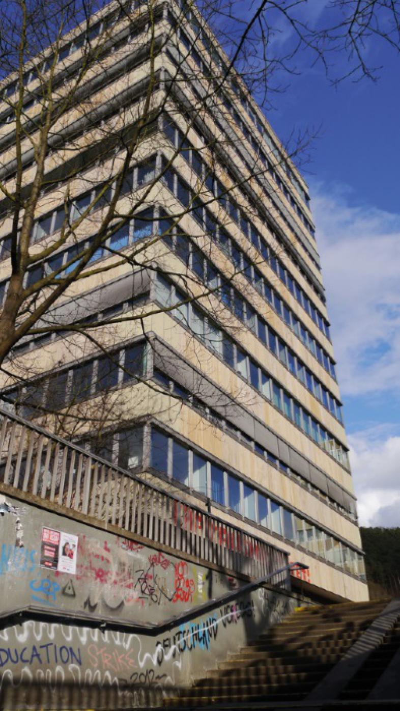 Hochhaus der Uni Marburg