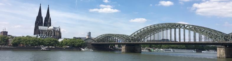 Panoramablick über Köln am Rhein