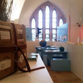 Ein Blick in den inneren Ausstellungsbereich von blick:punkte