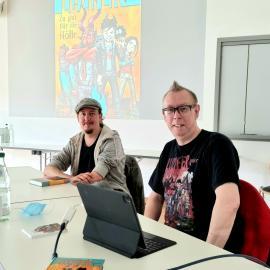 Jochen Till und Vorleser Chrstian auf Leserreise an der blista