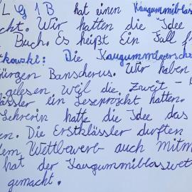 Bericht zum Wettbewerb in klindlicher Handschrift