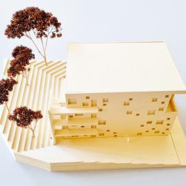 Taktiles Modell des Neubaus