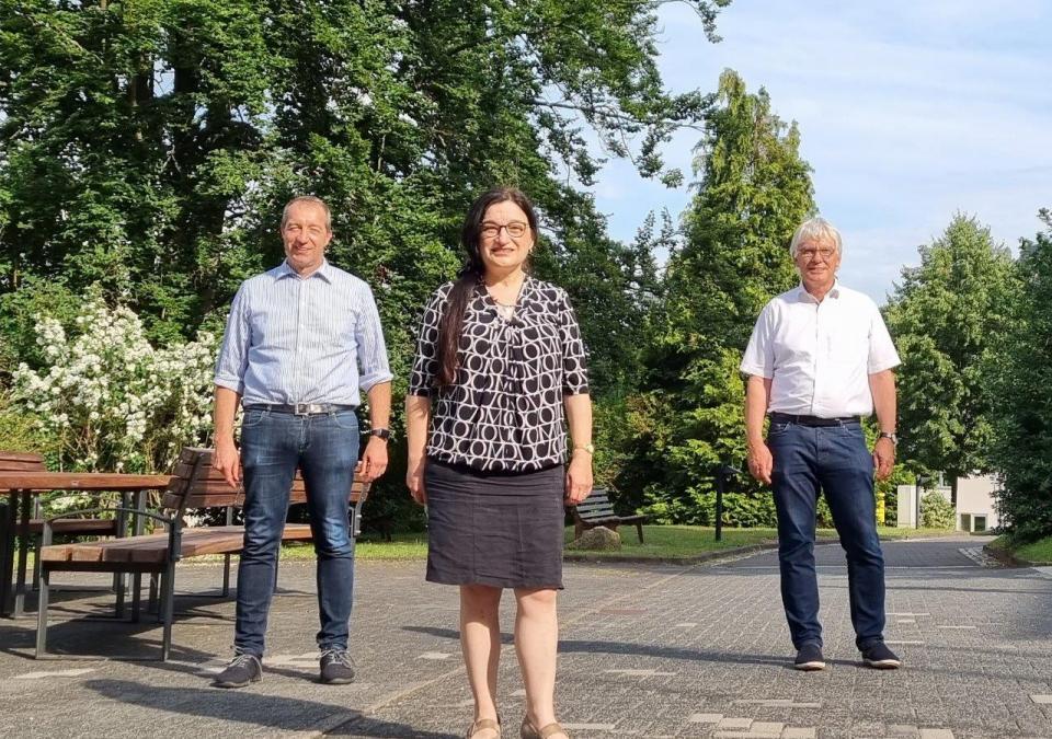 Bild 6 von 6: Die neue Geschäftsführerin des Zentrums für blinde und sehbehinderte Studierende (BliZ) der Technischen Hochschule Mittelhessen (THM) in Gießen, Frau Prof. Möhring mit dem Vorstand der blista