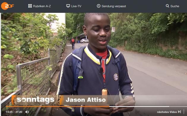 Der blista-Schüler auf seinem Schulweg