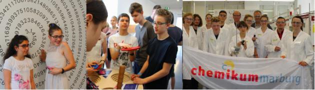 blista-Schüler im Mathematikum Gießen und im Chemikum Marburg