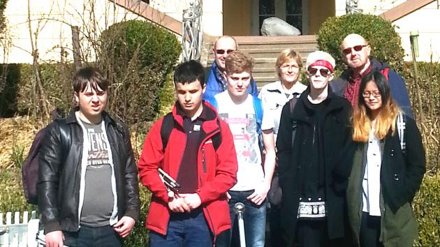 Deutsch-englische Schülergruppe